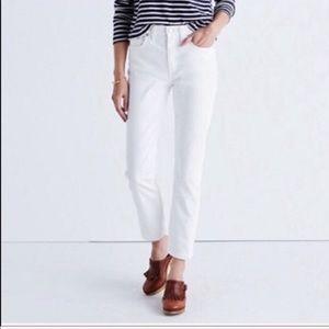 Madewell High Rise White Skinny Jeans